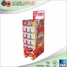 Quarter European pallet cardboard sticker display stand, dvd cd display shelf, phone accessories display rack