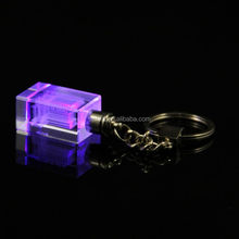 colorful Light Crystal Keyring with Customized Logo souvenirs gift