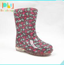 Colorful Cute Design Transpatent Rain Boots For Wellington