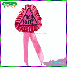 Novelty Triangle Hen Party Rosette Party Supply