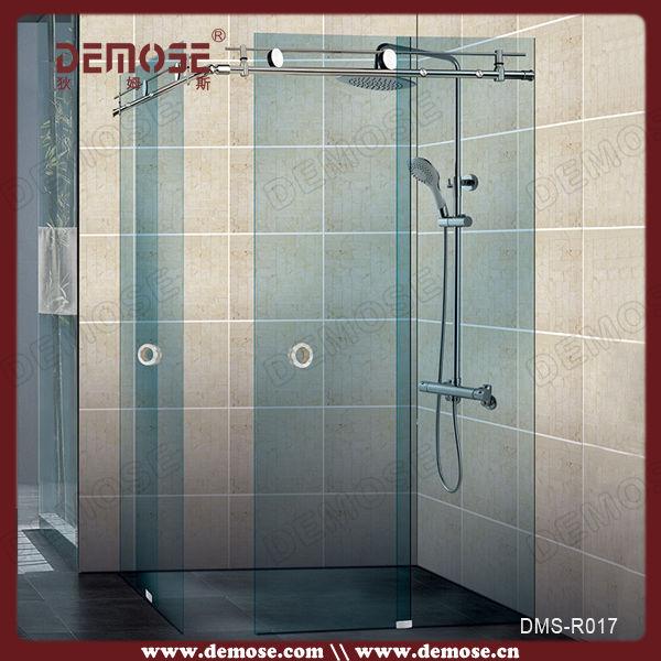 Hotel three panel sliding glass shower door hardware buy for Sliding glass doors 3 panel