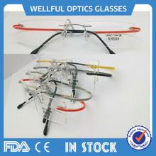 nuevo 2014 calidad superior de titanio gafas con lentes de ca forman y la mujer