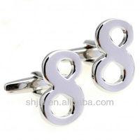 """Number """"8"""" Design Silver Cufflinks"""
