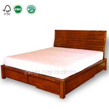 BD0801- Economic storage bedroom solid wood furniture 1.8m online bed