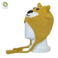 Knitted warm cheap hat,wholesale china cat face kids hat,winter child hat