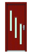interior frosted glass window door come with teak wood effects