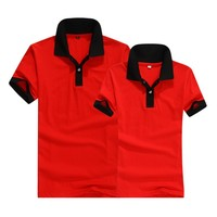 2015 Low price red polo shirt stocklot at big polo shirt factory