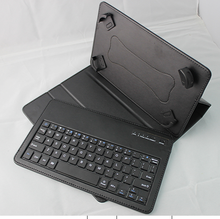 9-10 inch Educational/Office 2015 Leather+ABS bluetooth tablet keyboard case
