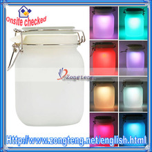 Romantic Lighting 7 Color Changing Nightlight Lamp Glass Solar Powered Sun Jar