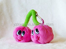 Plush Toy Fruit Cherry Shape Coin Purse Plush Promotional Coin Purse