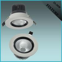 7W recessed aluminum LED COB downlight accessories
