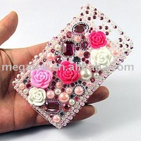 Mobile phone accessories phone case diamond bling crystal hard case for blackberry storm 9520