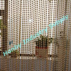 Custom Golden Metal Ball Chain Bead Curtain
