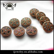 decorative design Rhinestone Button For Garment Decoration