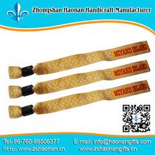 china supplier new product bracelet design fabric wristband china custom brand name no min order