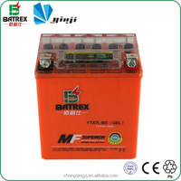 Yinxiang Motorcycle 12 Volt Indicator Gel Battery for YTX7L-BS