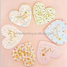 Love shape paper card,trade assurance greeting cards and Invitation Paper Wedding Card