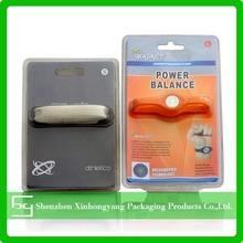 PET slide card blister packaging for sports bracelet
