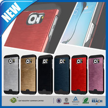 C&T Hybrid hard combo wire drawing aluminum metal case for samsung galaxy s6