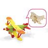 Self Painting wooden puzzle toy plane