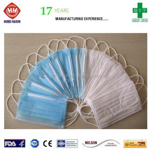 2015 hot sale surgical pink and blue disposable face mask with earloop