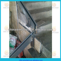 stainless steel glass fixed channel