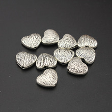 JS1182 Fashion Antique Silver metal heart beads