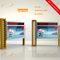 65 inch floor standing outdoor lcd touch screen display nona touch