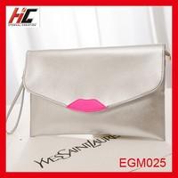 2015 summer new korean style fahion shoulder bag personality lips women clutch bag