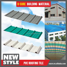 PVC solar tile & clay roof tile for factory / warehouse