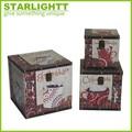 la importación de pequeñas cajas de madera antiguas