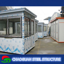 modular prefab modern house for restaurant /coffee shop/container toilet
