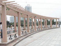 FRSTECH WPC products wpc decking & composite wood pergola carport