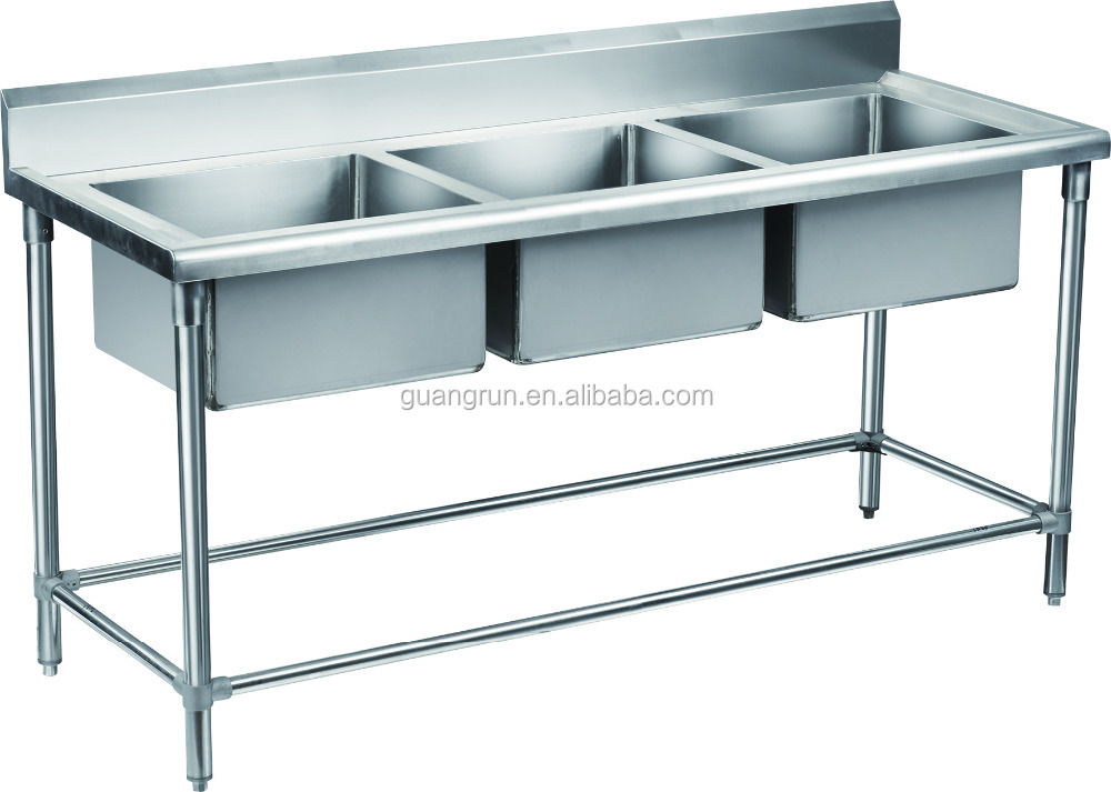 Bowl Hotel Used Free-standing Commercial Stainless Steel Kitchen Sink ...
