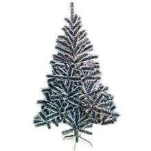 1.5m black pine christmas tree with snow