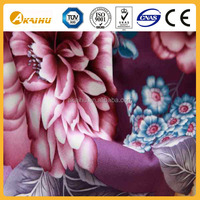 100% polyester fabric flower painting designs