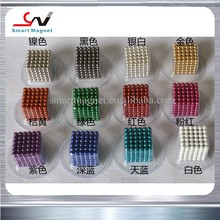 Different colors cash on delivery cheap neocube rare earth neodymium magnetic balls 5mm