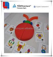 wooden rainbow blocks for children Construction Set toys