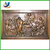 Wall bronze relief sculpture