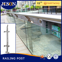 handrail and post for glass fixing balcony balustrade