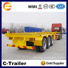 best selling double axle 40ft skeleton semi trailer,40ft container semi trailer