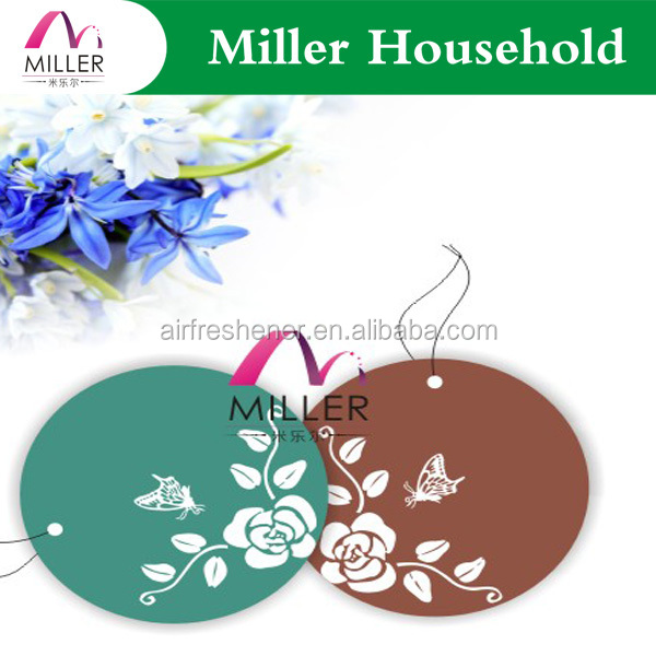 Artificial Grass Paper Rose Scented Car Air Freshener PAPER AIR FRESHENERS
