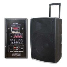 15 inch Plastic multimedia active speaker/multifunction speaker/portable active audio box speaker