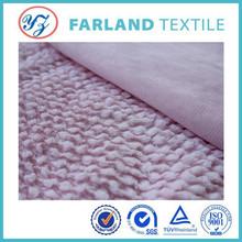 2015 new popular fabric Decorative cloth polyester fabric wholesale PV flock spraying