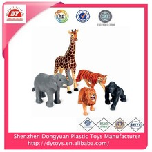custom made no phthalates cheap jungle animal pvc toy for kids