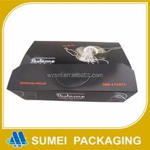 Custom popular good cheap pasta box packaging