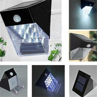12LED Solar Motion Sensor PIR Wall Mount Garden/Flood/Entrance Outdoor Light 100% solar powered White blubs Solar wall lamp