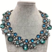 2014 American New Style Bib Statement Jewelry metal flower beads