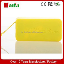 lithium battery plastic shell external battery pack 4000 mah with key chain