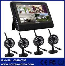 "Outdoor Weatherproof Camera and 7"" LCD Monitor DVR Wireless CCTV Kits"